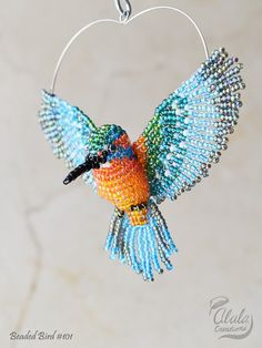 Kingfisher Suncatcher Bird Art Hanging Decor by AlulaCreations
