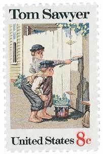 1972 8c Tom Sawyer Scott 1470 Mint F/VF NH