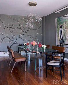 castello 120, decorar con arboles en el interior 2 | wall and chandelier ♥•♥•♥