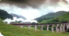 The Jacobite Steam Train on the famed West Highland Line that goes to Mallaig. It will take us past Britain's highest mountain, deepest loch, shortest river and most westerly station in the Scottish Highlands. We'll cross the famous Glenfinnan viaduct featured in the Harry Potter films.