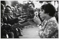 October 21, 1967:  Today marks the 49th anniversary of Marc Riboud's influential image.  Anti-Vietnam War demonstration, Washington, D.C.