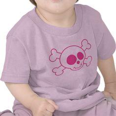 Cute Baby Pink Skull Tee Shirt