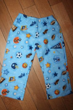 Handmade fleece pyjama pants, 24 months - merrilymerrily.ca