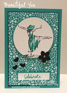 Today's inspiration comes from this week's Splitcoaststampers Sketch Challenge. Here is the sketch … … and here is my card. Tips: Stamp the dancing lady from Beautiful You w…