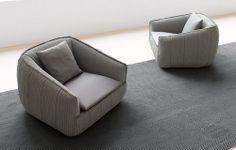 Contemporary armchair BASK S by Francesco Rota PAOLA LENTI