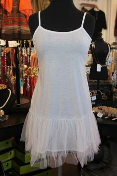 Fun tutu tank top! These are one of Mainstream Boutiques Best sellers!
