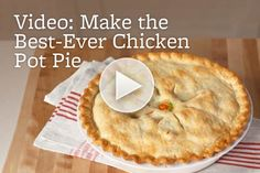 Savory Chicken Pot Pie is the ultimate comfort food. Watch how to make it here: http://www.bhg.com/videos/m/70409255/how-to-make-chicken-pot-pie.htm/?socsrc=bhgpin031513chickenpotpie