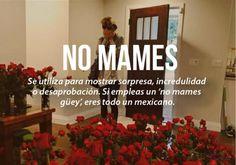 expresiones mexicanas significado de no mames