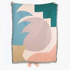 "Designed by Berlin-based artist Jonathan Niclaus, the Hocko Throw is a woven cotton blanket that is suitable for the home, for picnics, as a unique gift, or to hang on the wall as art. Made in the USA from 100% cotton grown, spun and woven in North Carolina. Measures 54"" x 70"" (137cm x 178cm)."