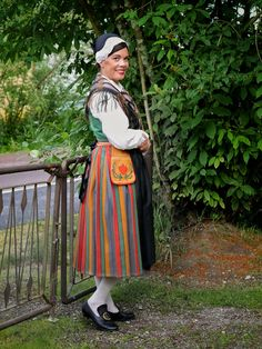 National costume of Pojo, Finnish national costume Folk Costume, Costumes, Traditional, Beauty, Collection, Dresses, History, Beleza, Vestidos