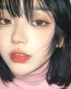 Cute Makeup, Pretty Makeup, Makeup Looks, Hair Makeup, Korean Eye Makeup, Asian Makeup, Pretty Korean Girls, Cute Korean Girl, Makeup Inspo