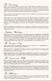 Greek Orthodox Wedding Program Example Directories Order Of Service Church
