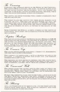 Greek Orthodox Wedding Program Example Directories Order Of Service Church