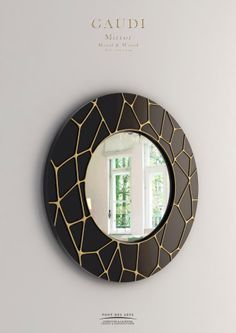 Gaudi Mirror - Wood And Bronze - Pont des Arts - Monzer Hammoud - Designer - Paris-