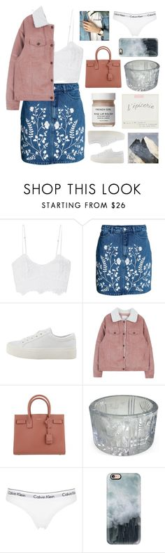 """""""Untitled #2921"""" by tacoxcat ❤ liked on Polyvore featuring Miguelina, MANGO, Yves Saint Laurent, French Girl, Calvin Klein Underwear and Casetify"""