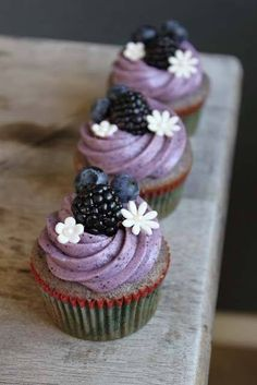 Blackberry topped cupcake