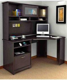 Bush Cabot Corner Computer Desk With Optional Hutch This Collection Is What Separates The Office From Your Average Worke