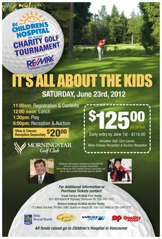 BC Children's Hospital 8th Annual Charity Golf Tournament