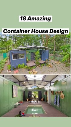 Tiny Container House, Sea Container Homes, Building A Container Home, Off Grid Tiny House, Tiny House Cabin, Tiny House Design, Container Homes Australia, Triangle House, Shipping Container Home Designs