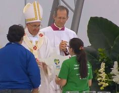 Pope Francis, final Mass on Copacabana Beach, World Youth Day 2013, Rio de Janeiro, Brazil