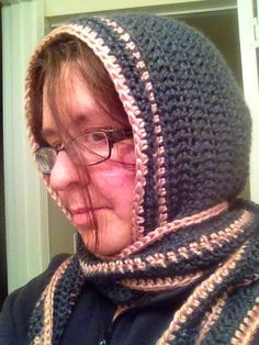 Another view of my crocheted scoodie!