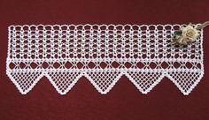 Gardinen - Häkelgardine    - ein Designerstück von Haekeldesign-Gudrun bei DaWanda Crochet Art, Crochet Doilies, Crochet Patterns, Valance, Curtains, Etsy, Handmade, Decor, Bobbin Lace