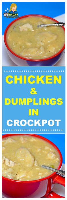 Crock Pot Chicken & Dumplings are so much easier to make than the homemade version. Let your slow cooker do all the work when making chicken & dumplings. Crock Pot Slow Cooker, Slow Cooker Chicken, Slow Cooker Recipes, Crockpot Recipes, Chicken Recipes, Homemade Chicken And Dumplings, Crockpot Chicken And Dumplings, Crockpot Chicken And Noodles, Chicken Soup