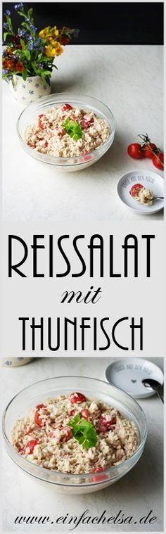 {Herzhaft} Reissalat mit Thunfisch - Receta de arroz - Las recetas más prácticas y fáciles Salad Recipes For Dinner, Easy Salad Recipes, Easy Salads, Lunch Recipes, Easy Meals, Rice Salad, Salad Bar, Work Meals, Lunch To Go