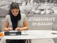 Enter the giveaway to win Freewrite, the world's first smart typewriter!