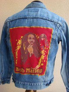 """BAREFOOT VINTAGE ORIGINAL BOB MARLEY LEVI'S JEAN JACKET KIDS   $75.00  www.barefootvintage.com """"SOLD"""""""