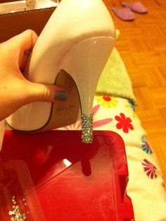 Why didn't I think of this?? DIY rhinestones on your shoes! Duh! guess who will be making her own Steve Madden knock-offs?!?! LOL