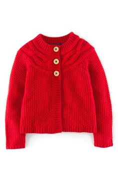 Mini Boden Cable Knit Cardigan (Toddler Girls, Little Girls & Big Girls) available at #Nordstrom