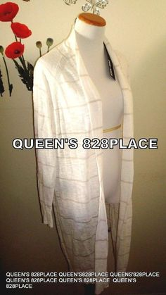 5c1e9ece038 Nwt Spring  amp  Mercer Womens Plus size 1X Beige Striped LONG OPEN  CARDIGAN Top new