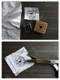 Stoff bestempeln mit Versacraft Stempelkissen, Stempel