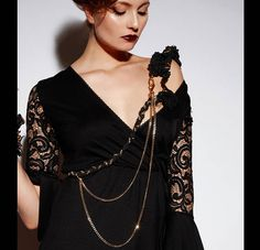 Body chain gothic, shoulder necklace wedding, armor jewelry with epaulette shoulder pad