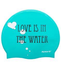 Sporti Love is in the Water Silicone Swim Cap