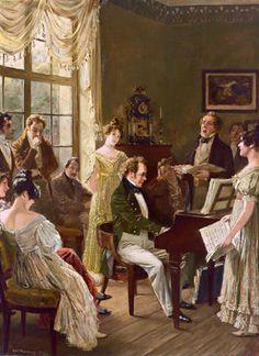 A family gathering... Carl Röhling - Schubert Nella Cerchia Dei Suoi Amici