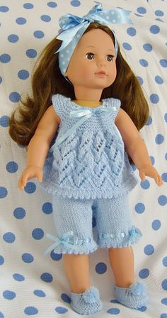 "Ravelry: AMERICAN GIRL DOLL CREAM OF THE"" CROPS"" PJs OR PLAYTIME SETS pattern by Jacqueline Gibb"