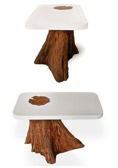 Stump tea table