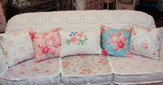 Vintage Chic Furniture Schenectady NY: OMG! Antique Sofa Chenille Bedspread Slipcover Shabby Chic Wonderful