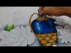 Roberto Ferreira - Aprenda a pintar ROSAS e Folhas - Continuação Bule amarelo- parte 2 - YouTube