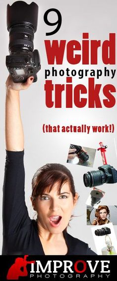 Cool photography tricks ~~ like the lamp trick!