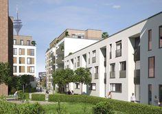 """Alle Wohnungen des Neubauprojekts """"NeMo"""" von der formart GmbH sind mit Terrasse, Loggia, Balkon oder Gartenabteil ausgestattet."""