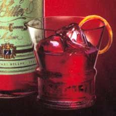 Classic Negroni  1 oz gin  1 oz Campari  3/4 oz Sweet Vermouth