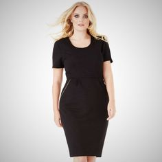 Zip Detail Plus Size Midi Dress This is a Zip Detail Plus Size Midi Dress, Round neckline with Short sleeves and front side pockets. Perfect for office to evening wear. Plus size office clothing in Dublin. Office Clothing, Office Outfits, Building Design, Dublin, Size Clothing, Plus Size Outfits, Web Design, Short Sleeves, Neckline