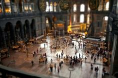 Hagia Sophia - Tilt Shift Photography   What is Tilt-Shift Photography?..... Tilt-Shift photography or miniature faking is a creative technique whereby a photograph of a life-size location or object is manipulated to give an optical illusion of a photograph of a miniature scale model.