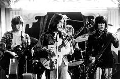 Eric Clapton, John Lennon, Mitch Mitchell and Keith Richards  Rock and Roll Circus 1968