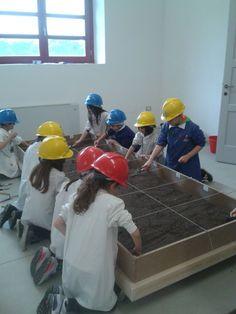Simulazione scavo paleontologico