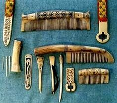 Reconstructions of various items of Anglo-Saxon and Viking bonework. Buckles, strap-ends, combs, cloak pins, needles and needle case. http://www.regia.org/research/life/bonework.htm
