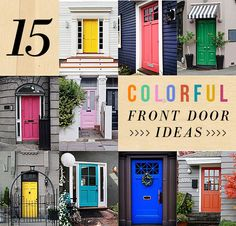 15 colorful front door ideas via apartment therapy.